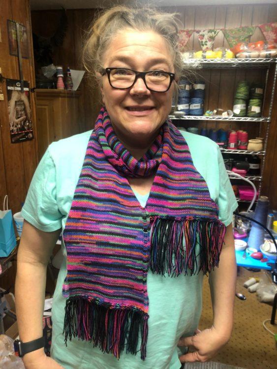flat scarf
